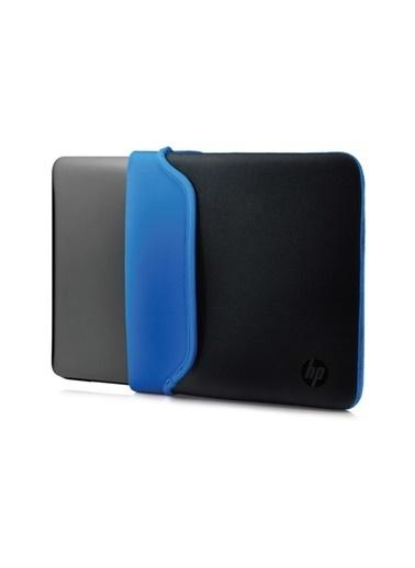 """HP Hp V5C31AA 15.6"""" Neopren Çevrilebilir Notebook Kılıf Siyah-Mavi_x000D_  Renkli"""